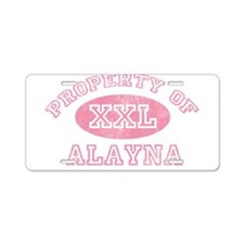 Property of Alayna Aluminum License Plate