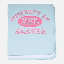 Property of Alayna baby blanket