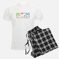 Peace, Love, Lhasapoos Pajamas