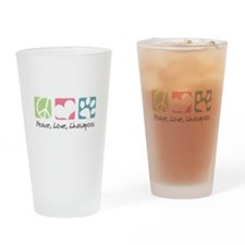 Peace, Love, Lhasapoos Drinking Glass