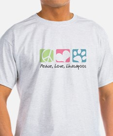 Peace, Love, Lhasapoos T-Shirt