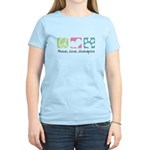 Peace, Love, Lhasapoos Women's Light T-Shirt