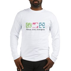 Peace, Love, Lhasapoos Long Sleeve T-Shirt