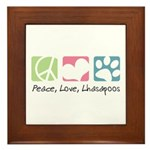 Peace, Love, Lhasapoos Framed Tile