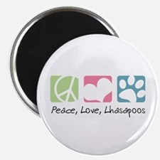 Peace, Love, Lhasapoos Magnet