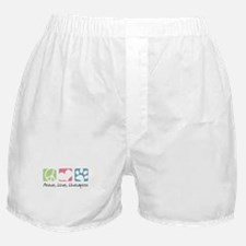 Peace, Love, Lhasapoos Boxer Shorts