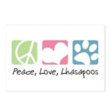 Peace, Love, Lhasapoos Postcards (Package of 8)