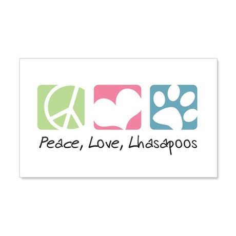 Peace, Love, Lhasapoos 22x14 Wall Peel