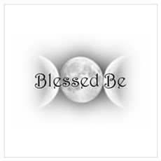 Blessed Be (triple crescent) Canvas Art
