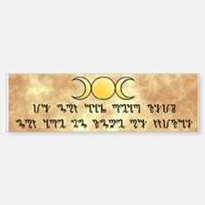 Theban w/triple moon - Bumper Bumper Bumper Sticker