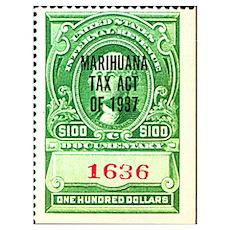 Marijuana Tax Stamp Poster
