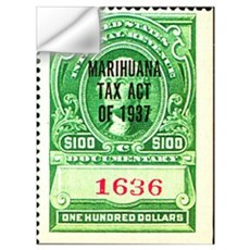 Marijuana Tax Stamp Wall Decal