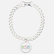 Peace, Love, Chiweenies Charm Bracelet, One Charm