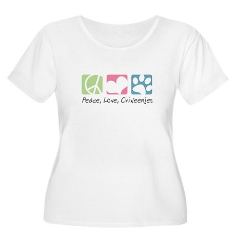 Peace, Love, Chiweenies Women's Plus Size Scoop Ne
