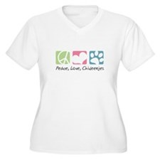 Peace, Love, Chiweenies T-Shirt