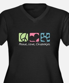 Peace, Love, Chiweenies Women's Plus Size V-Neck D