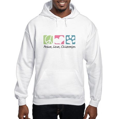 Peace, Love, Chiweenies Hooded Sweatshirt