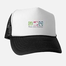 Peace, Love, Chiweenies Trucker Hat