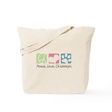 Peace, Love, Chiweenies Tote Bag