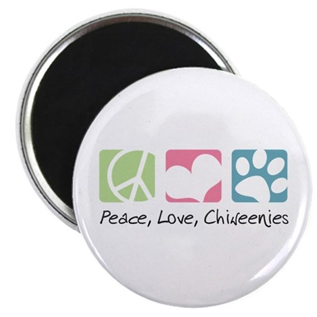 "Peace, Love, Chiweenies 2.25"" Magnet (10 pack)"