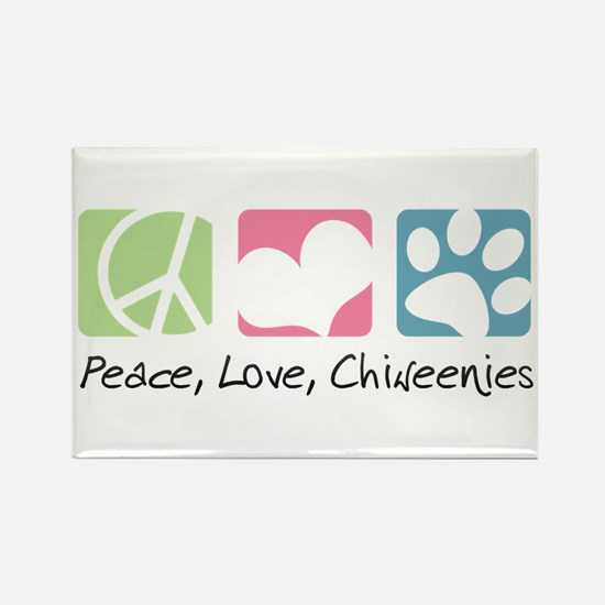 Peace, Love, Chiweenies Rectangle Magnet