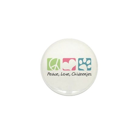 Peace, Love, Chiweenies Mini Button (10 pack)