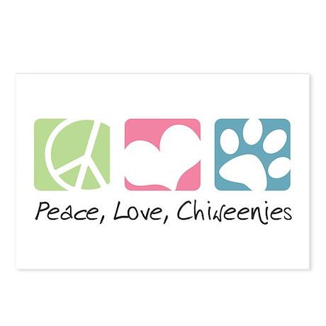 Peace, Love, Chiweenies Postcards (Package of 8)