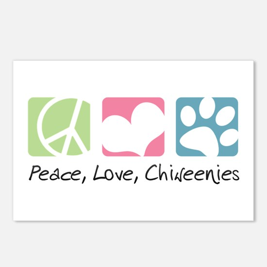 Peace, Love, Chiweenies Postcards (Package of 8)
