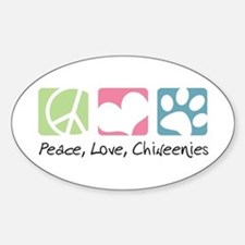 Peace, Love, Chiweenies Decal