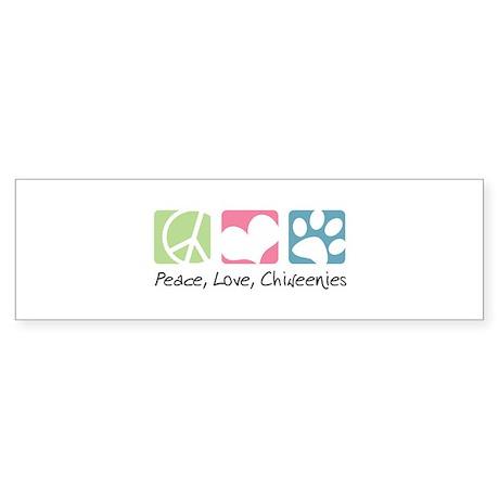 Peace, Love, Chiweenies Sticker (Bumper)