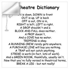 A Theatre Dictionary Wall Decal