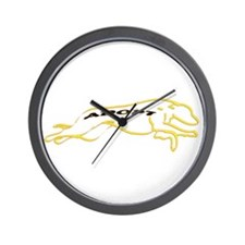 Adopt a Greyhound Yellow Wall Clock
