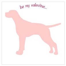 Pointer... Be My Valentine Framed Print