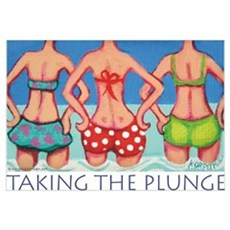 Taking the Plunge - Beach Poster
