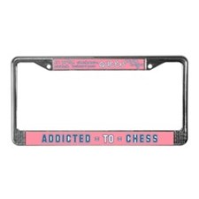 Addicted to Chess License Plate Frame