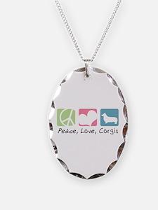 Peace, Love, Corgis Necklace