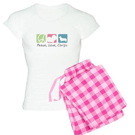 Peace, Love, Corgis Women's Light Pajamas