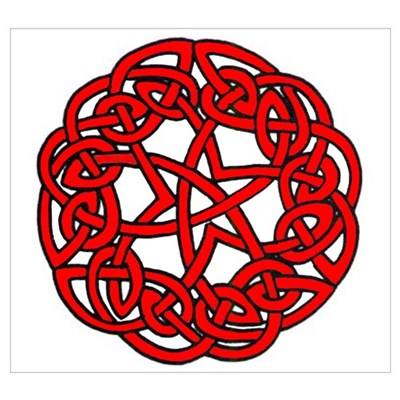 Red Celtic Beauty Poster