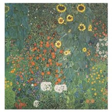 Country Garden with Sunflower Poster