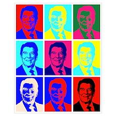 Reagan Portraits Poster