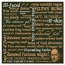 Shakespeare Insults Framed Print