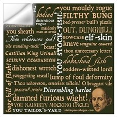 Shakespeare Insults Wall Decal