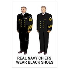 Real Navy Chiefs<BR> Print Canvas Art