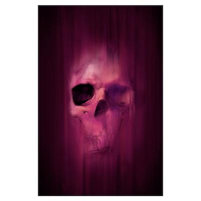 Aggressive Skull (Purple) Poster
