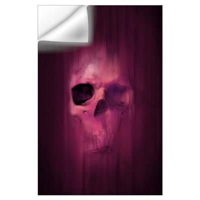 Aggressive Skull (Purple) Wall Decal
