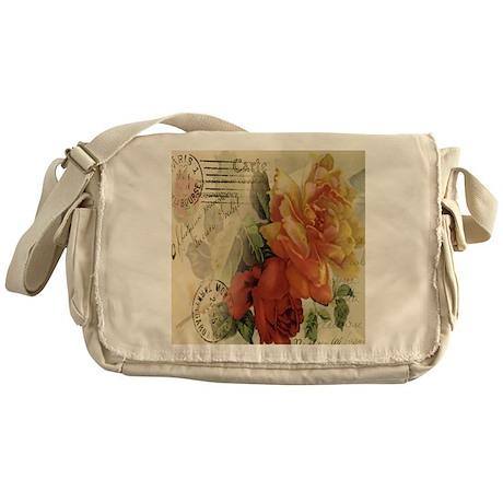 VINTAGE PARIS ROSES Messenger Bag