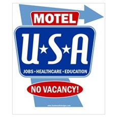 Motel USA Sign Poster