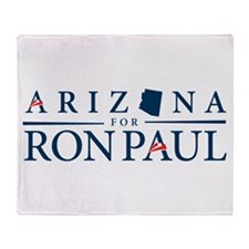 Arizona for Ron Paul Throw Blanket