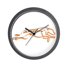 Adopt a Greyhound Orange Wall Clock