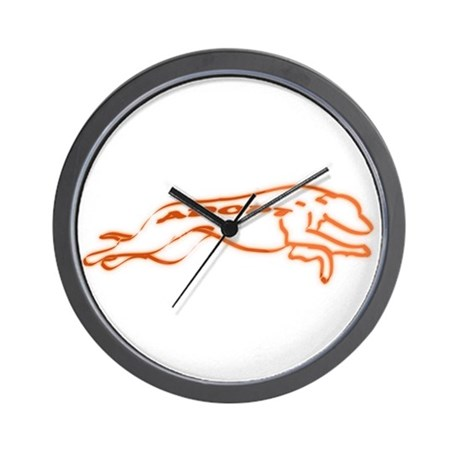 Adopt a Greyhound Orange Wall Clock